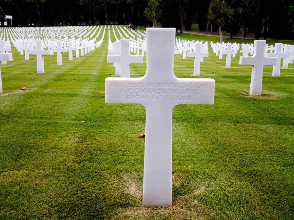 una delle tante croci di un soldato rimasto ignoto