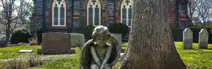 statua angelo cimitero