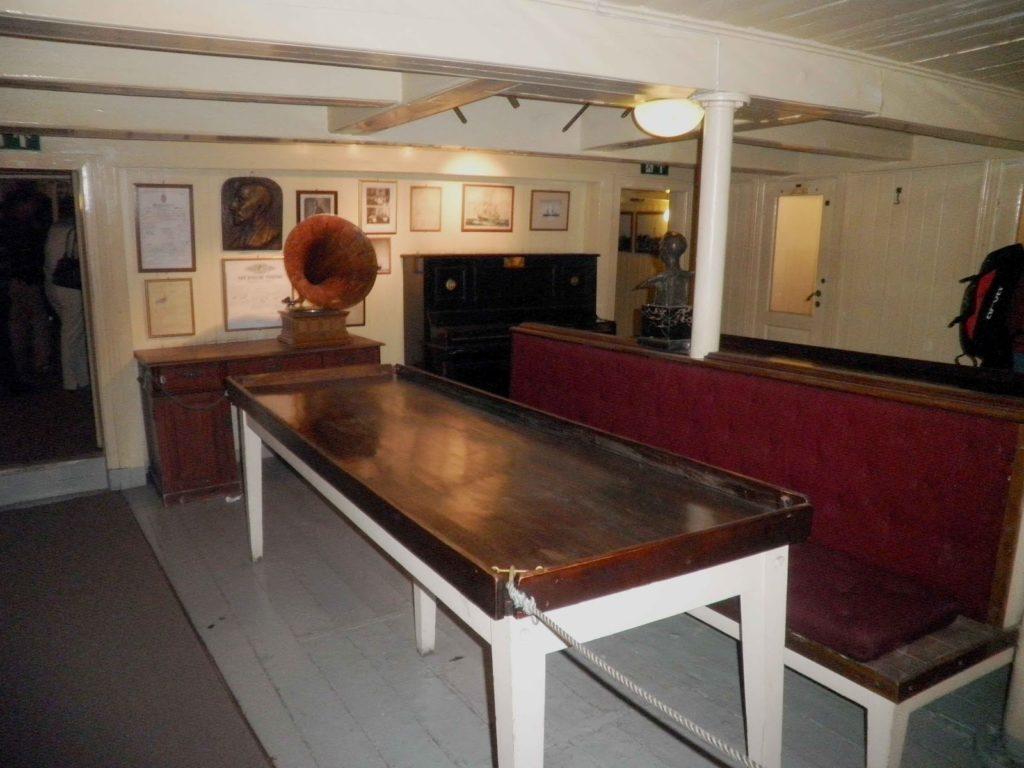 La sala comune della nave