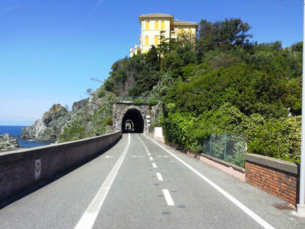 pista ciclabile levanto bonassola framura