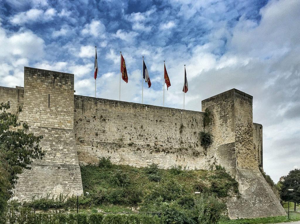 esterno del castello di caen