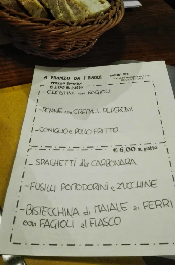 mangiare a firenze low cost